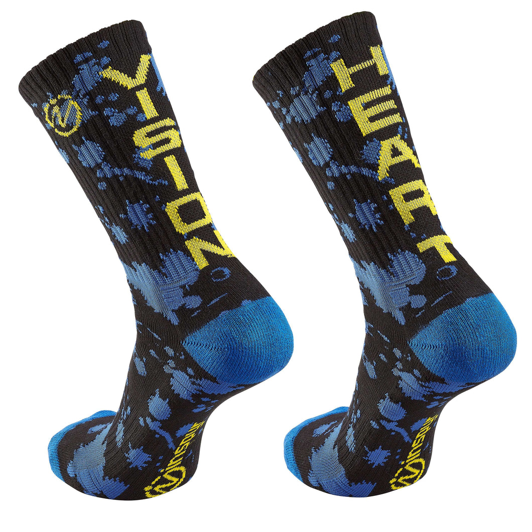 "Inspyr Socks ""Vision Heart"" Inspirational Crew Sock"