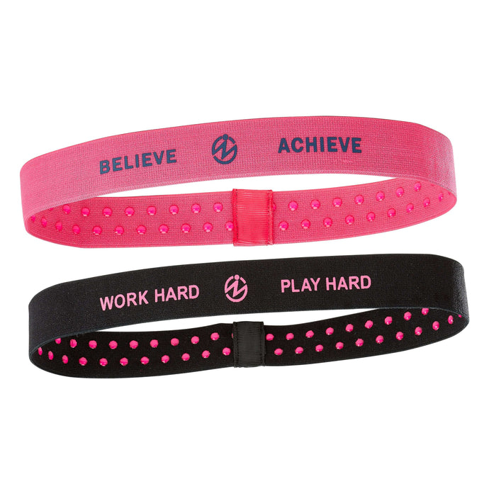 Inspyr Socks Believe/Achieve & Work Hard/Play Hard fitness Headbands