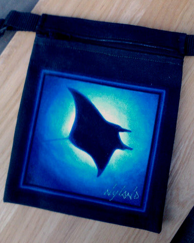 Manta Ray Cross-Body Essentials Bag Art by NYLAND