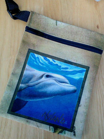 Bottlenose Dolphin Cross-Body Essentials Bag Art by NYLAND