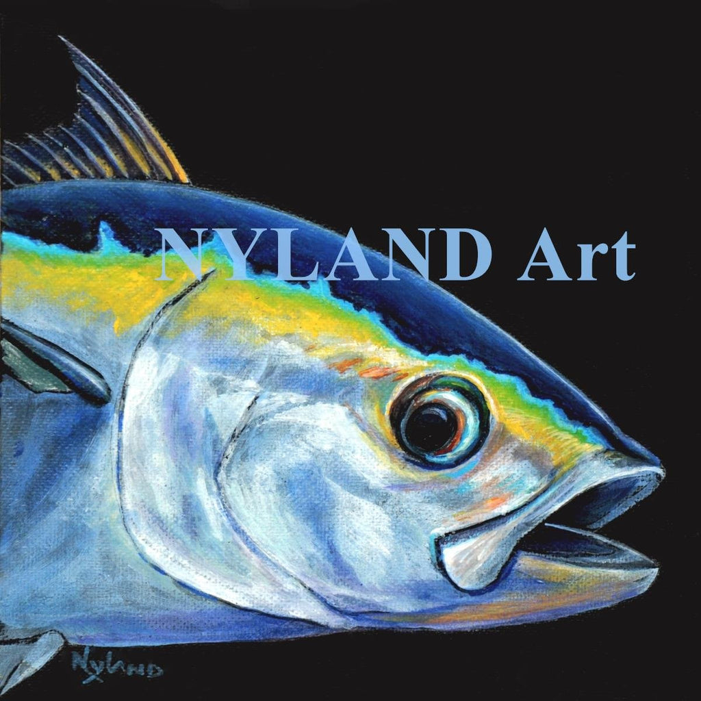 Blackfin Tuna Print V.E. Series Fish Art