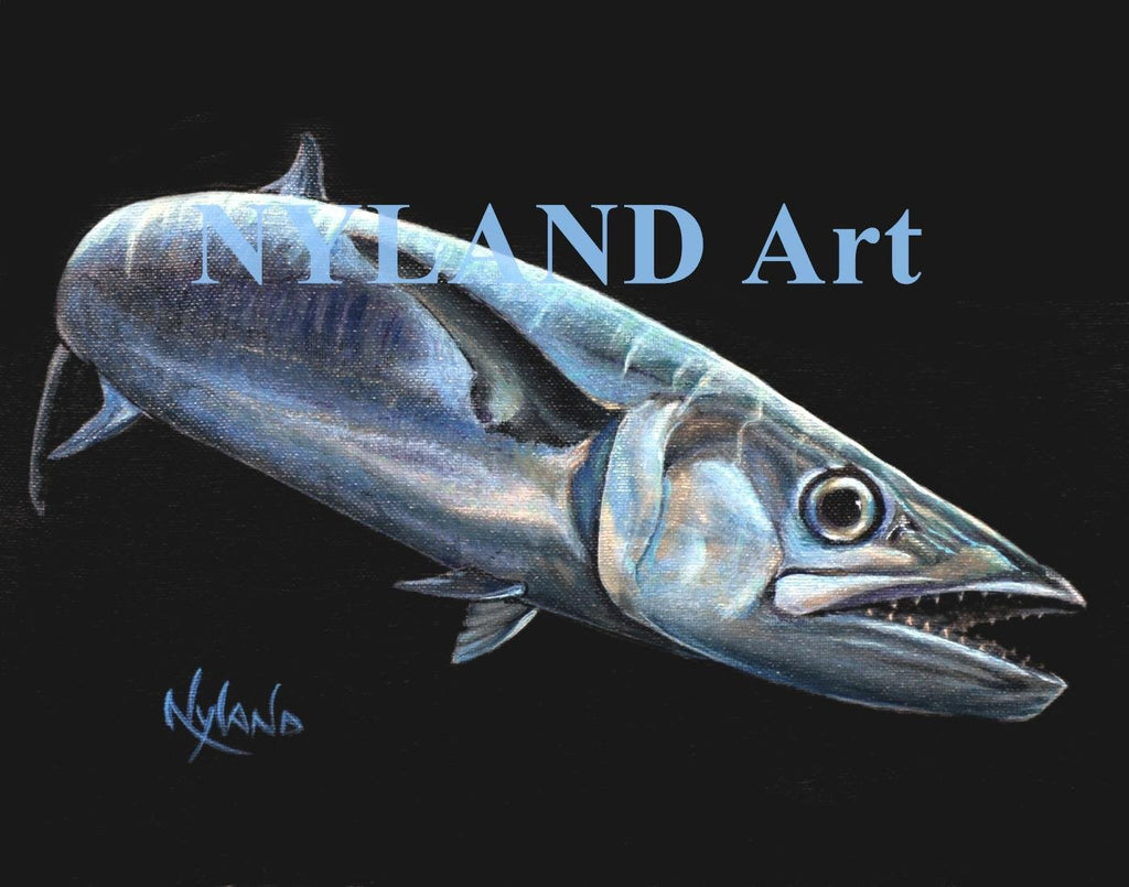 King Mackerel Kingfish Print V.E. Series Fish Art