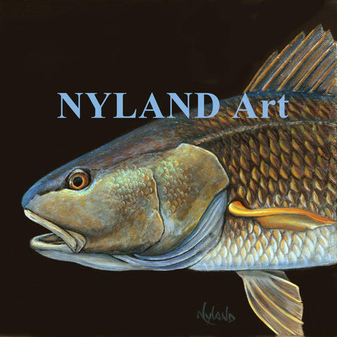 Red Fish, Red Drum Print V.E. Series Fish Art