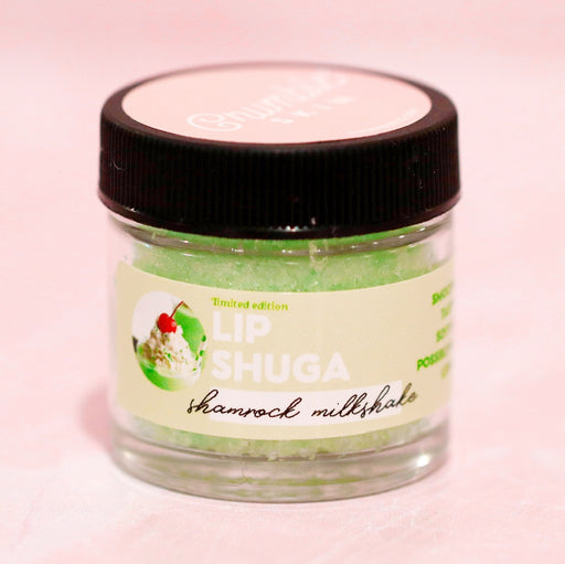 Shamrock Milkshake Lip Shuga Scrub - Fragrant Wax Melts & Wax Cubes | Crumble Co. Scented Wax Bars & Candles