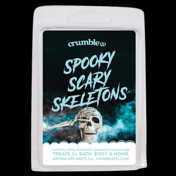 Spooky Scary Skeletons Wax Melt - Fragrant Wax Melts & Wax Cubes | Crumble Co. Scented Wax Bars & Candles