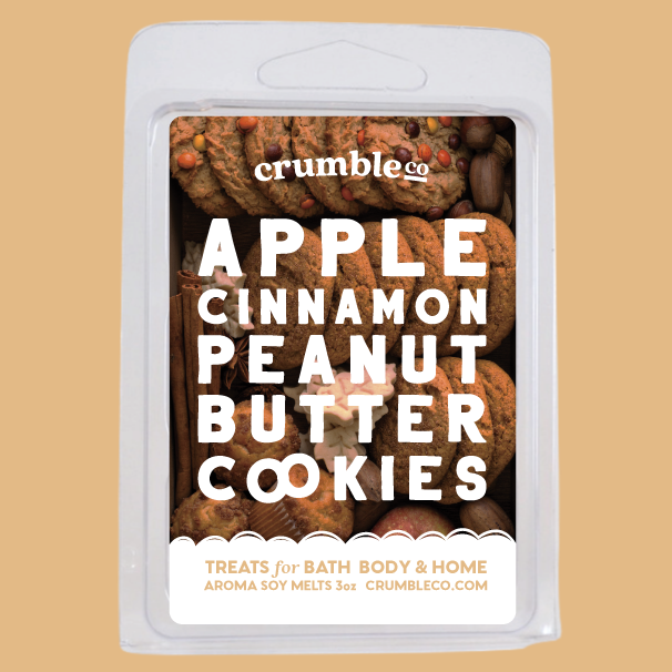 Apple Cinnamon Peanut Butter Cookies Wax Melt - Fragrant Wax Melts & Wax Cubes | Crumble Co. Scented Wax Bars & Candles