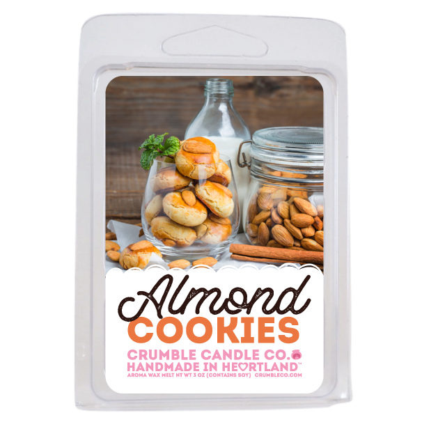 Almond Cookies Wax Melts - Fragrant Wax Melts & Wax Cubes | Crumble Co. Scented Wax Bars & Candles