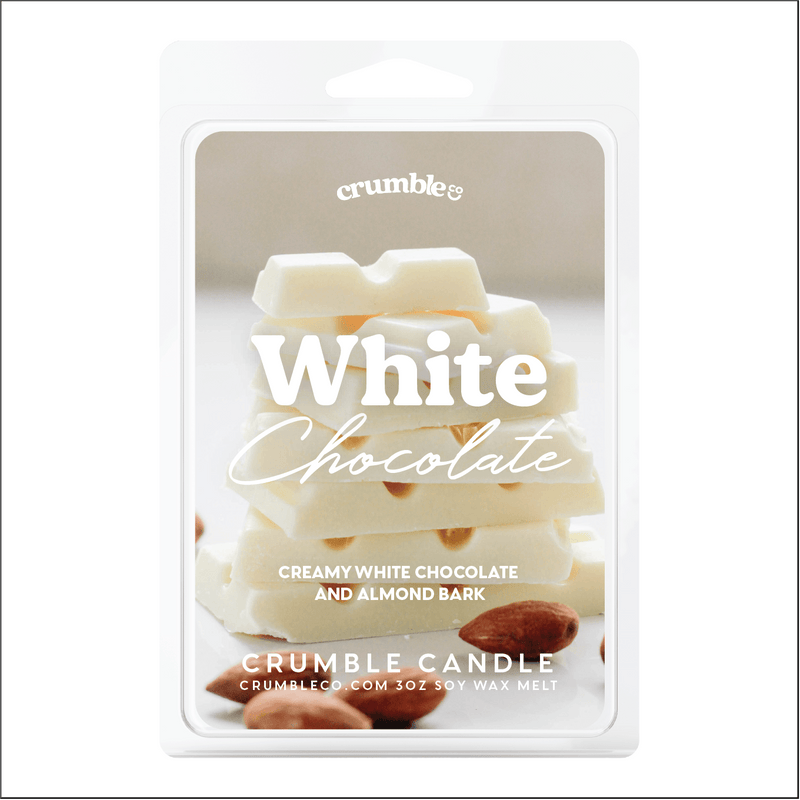 White Chocolate Wax Melts - Fragrant Wax Melts & Wax Cubes | Crumble Co. Scented Wax Bars & Candles