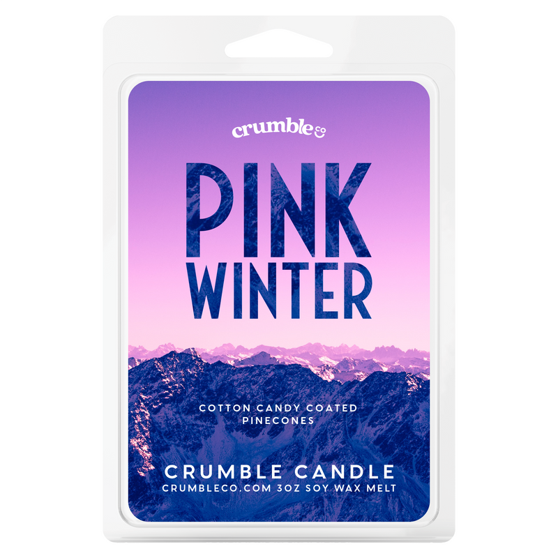 Pink Winter Wax Melts - Fragrant Wax Melts & Wax Cubes | Crumble Co. Scented Wax Bars & Candles