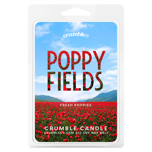 Poppy Fields Wax Melts - Fragrant Wax Melts & Wax Cubes | Crumble Co. Scented Wax Bars & Candles