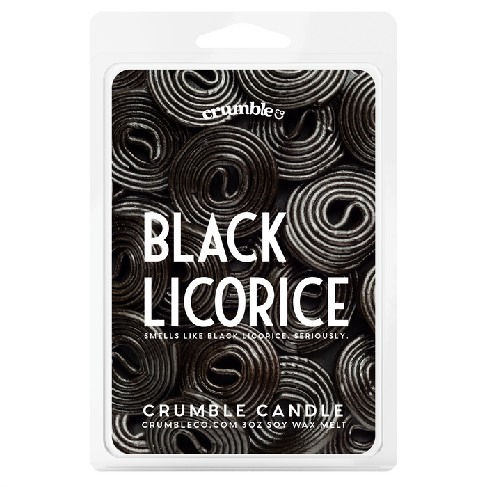 Black Licorice Wax Melts - Fragrant Wax Melts & Wax Cubes | Crumble Co. Scented Wax Bars & Candles