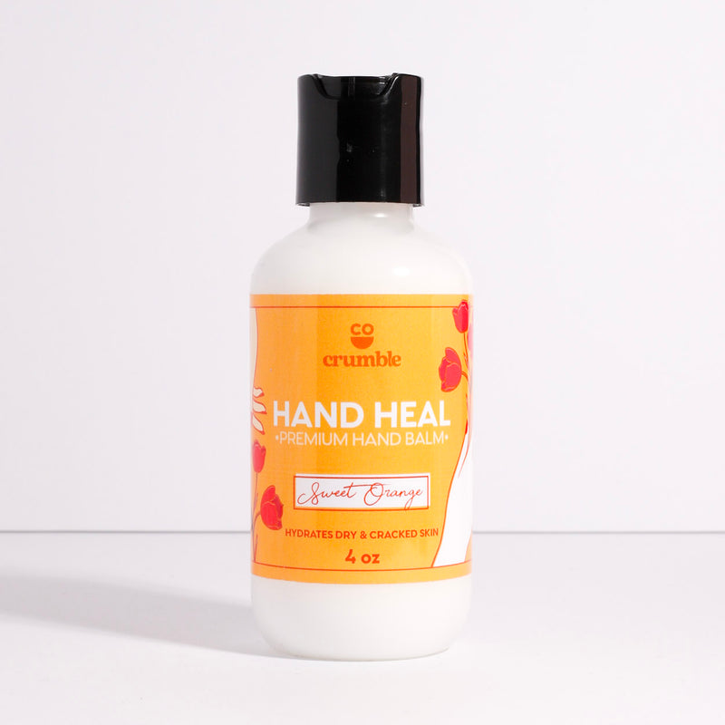 Hand Heal Cream | Sweet Orange - Fragrant Wax Melts & Wax Cubes | Crumble Co. Scented Wax Bars & Candles