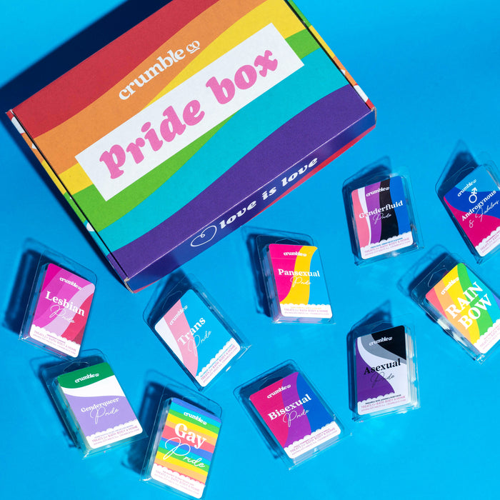 Pride Box - Fragrant Wax Melts & Wax Cubes | Crumble Co. Scented Wax Bars & Candles