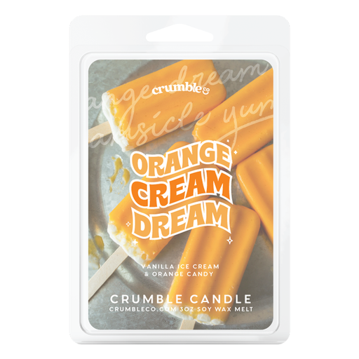Orange Cream Dream Wax Melts - Fragrant Wax Melts & Wax Cubes | Crumble Co. Scented Wax Bars & Candles