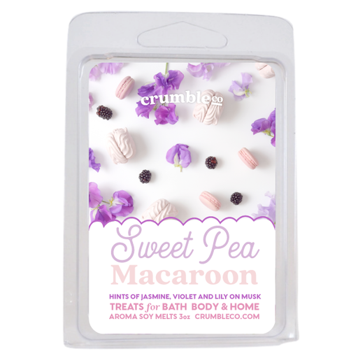 Sweet Pea Macaroon Wax Melts - Fragrant Wax Melts & Wax Cubes | Crumble Co. Scented Wax Bars & Candles