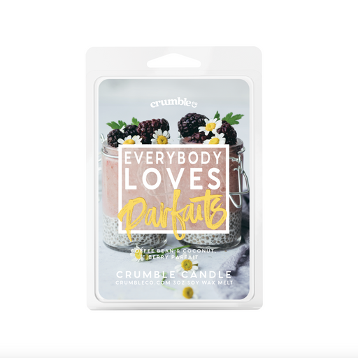 Everybody Loves Parfaits Wax Melt - Fragrant Wax Melts & Wax Cubes | Crumble Co. Scented Wax Bars & Candles