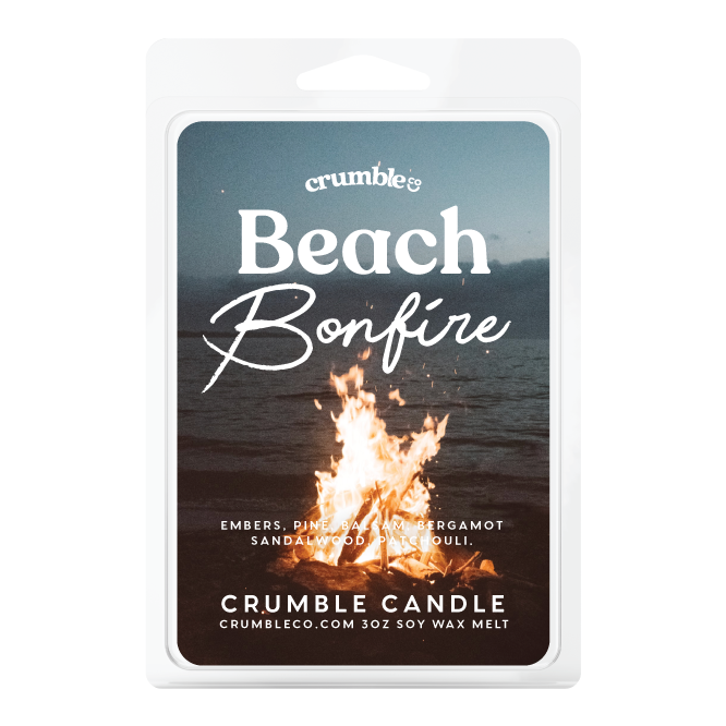 Beach Bonfire Wax Melts - Fragrant Wax Melts & Wax Cubes | Crumble Co. Scented Wax Bars & Candles