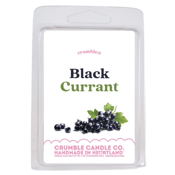 Black Currant Wax Melts - Fragrant Wax Melts & Wax Cubes | Crumble Co. Scented Wax Bars & Candles