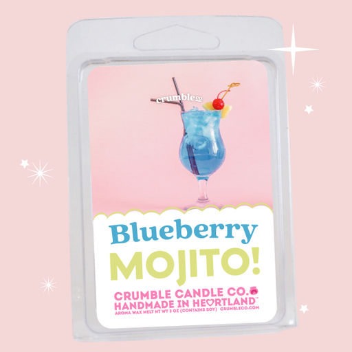 Blueberry Mojito Wax Melts - Fragrant Wax Melts & Wax Cubes | Crumble Co. Scented Wax Bars & Candles