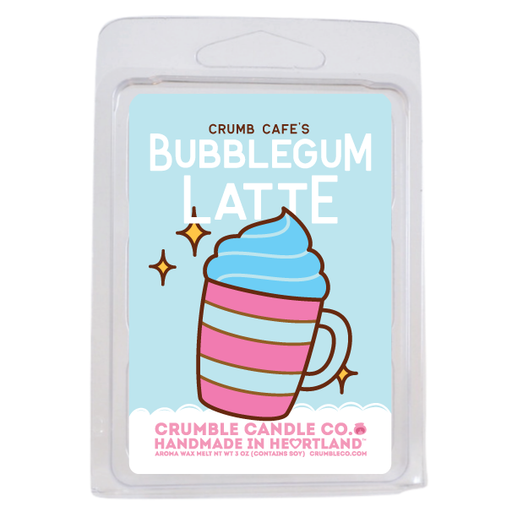 Bubblegum Latte Wax Melts - Fragrant Wax Melts & Wax Cubes | Crumble Co. Scented Wax Bars & Candles
