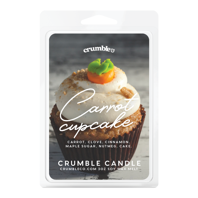 Carrot Cupcake Wax Melts - Fragrant Wax Melts & Wax Cubes | Crumble Co. Scented Wax Bars & Candles
