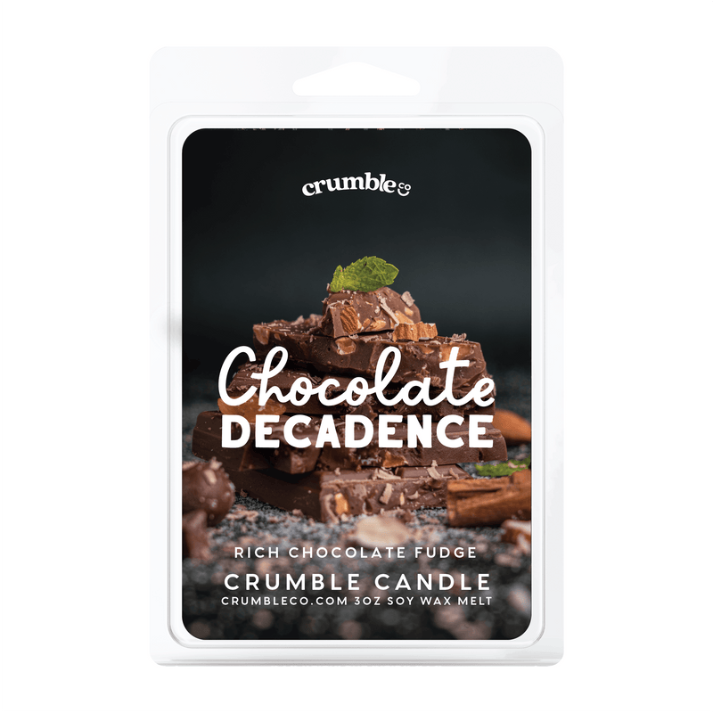 Chocolate Decadence Wax Melts - Fragrant Wax Melts & Wax Cubes | Crumble Co. Scented Wax Bars & Candles