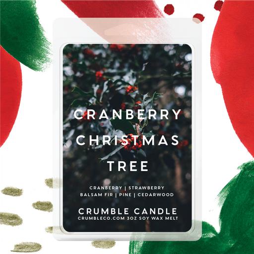 Cranberry Christmas Tree Wax Melts - Fragrant Wax Melts & Wax Cubes | Crumble Co. Scented Wax Bars & Candles