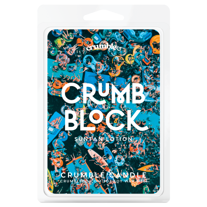 Crumb Block! (Sun screen Scented Wax) Wax Melts - Fragrant Wax Melts & Wax Cubes | Crumble Co. Scented Wax Bars & Candles