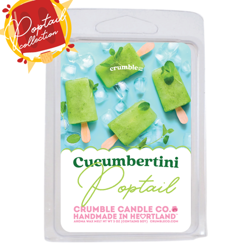 Cucumbertini Poptail Wax Melts - Fragrant Wax Melts & Wax Cubes | Crumble Co. Scented Wax Bars & Candles