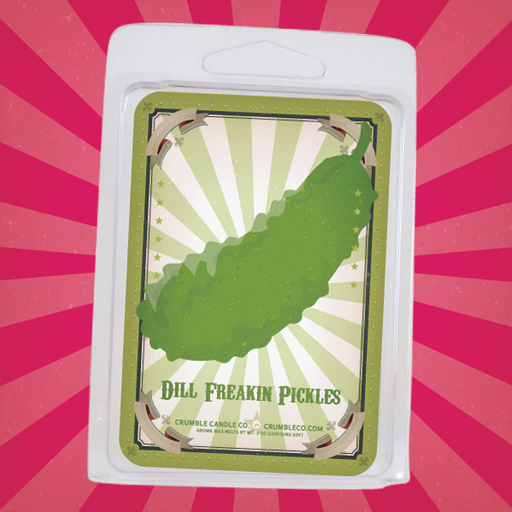 Dill Freakin' Pickle Wax Melts - Fragrant Wax Melts & Wax Cubes | Crumble Co. Scented Wax Bars & Candles