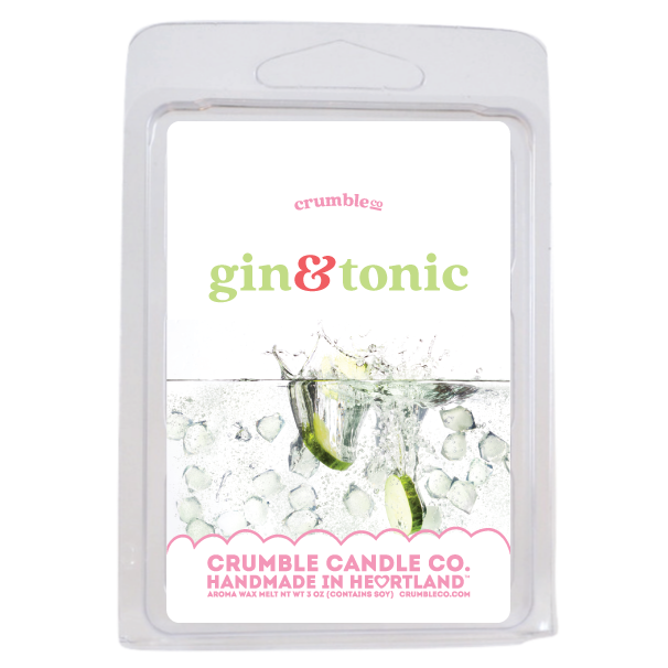 Gin & Tonic Wax Melts - Fragrant Wax Melts & Wax Cubes | Crumble Co. Scented Wax Bars & Candles