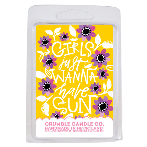 Girls Just Wanna Have Sun Wax Melts - Fragrant Wax Melts & Wax Cubes | Crumble Co. Scented Wax Bars & Candles