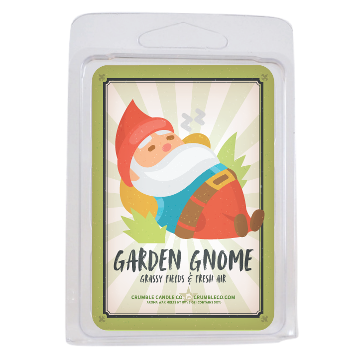Garden Gnome Wax Melt - Fragrant Wax Melts & Wax Cubes | Crumble Co. Scented Wax Bars & Candles