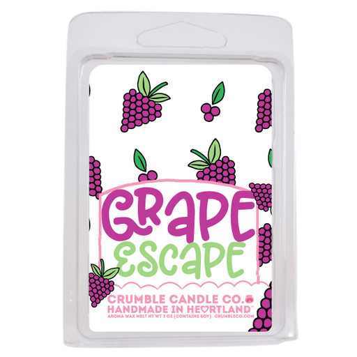 Grape Escape Wax Bar - Fragrant Wax Melts & Wax Cubes | Crumble Co. Scented Wax Bars & Candles