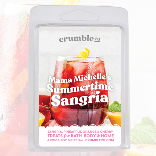 Mama Michelle's Summertime Sangria Wax Melts - Fragrant Wax Melts & Wax Cubes | Crumble Co. Scented Wax Bars & Candles
