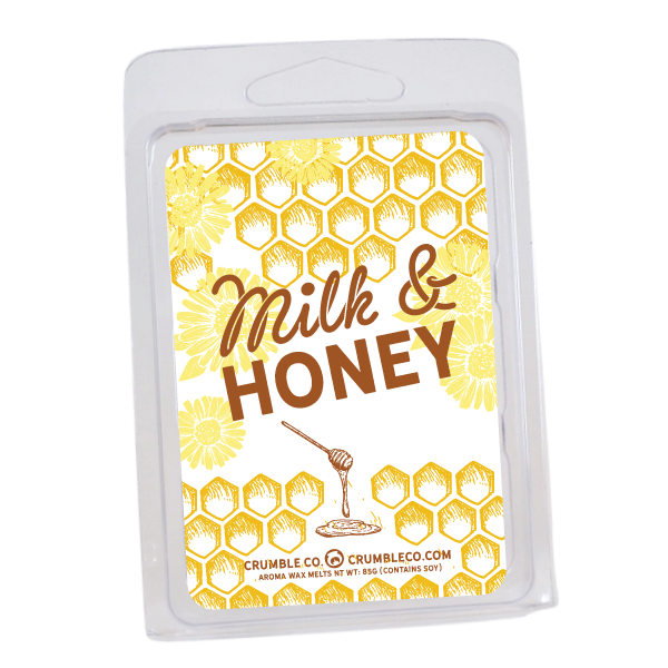 Milk & Honey Wax Melts - Fragrant Wax Melts & Wax Cubes | Crumble Co. Scented Wax Bars & Candles