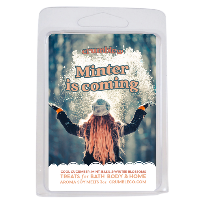 Minter is Coming Wax Melts - Fragrant Wax Melts & Wax Cubes | Crumble Co. Scented Wax Bars & Candles