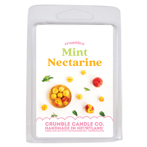 Mint Nectarine Wax Bar - Fragrant Wax Melts & Wax Cubes | Crumble Co. Scented Wax Bars & Candles