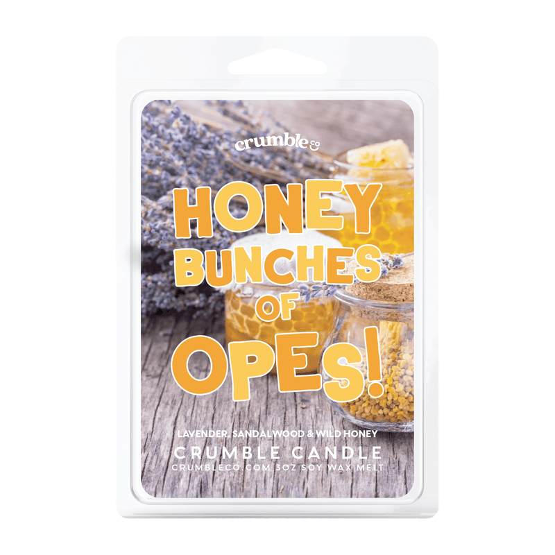 Honey Bunches of Opes! Wax Melts - Fragrant Wax Melts & Wax Cubes | Crumble Co. Scented Wax Bars & Candles