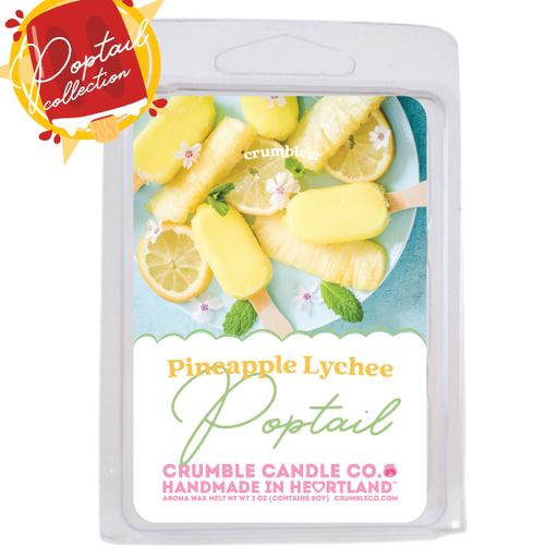 Pineapple Lychee Poptail Wax Melts - Fragrant Wax Melts & Wax Cubes | Crumble Co. Scented Wax Bars & Candles