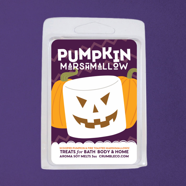 Pumpkin Marshmallow Wax Melts - Fragrant Wax Melts & Wax Cubes | Crumble Co. Scented Wax Bars & Candles