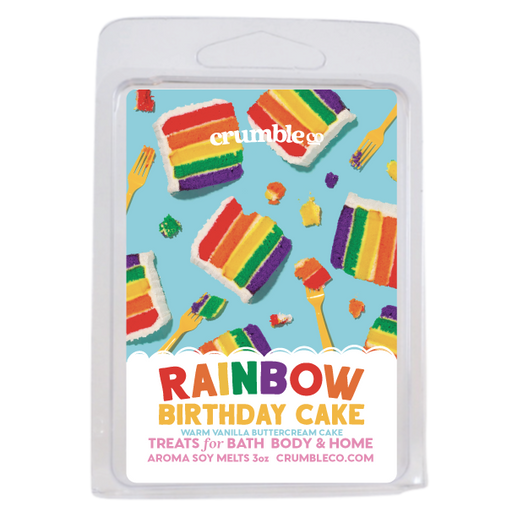 Rainbow Birthday Cake Wax Melts - Fragrant Wax Melts & Wax Cubes | Crumble Co. Scented Wax Bars & Candles