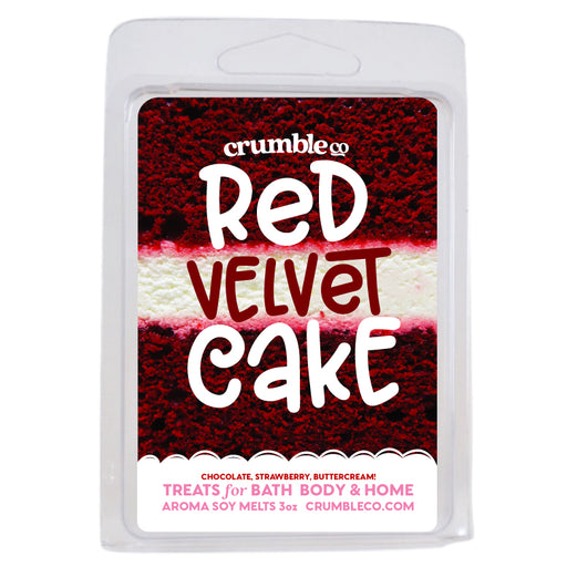 Red Velvet Cake Wax Melts - Fragrant Wax Melts & Wax Cubes | Crumble Co. Scented Wax Bars & Candles