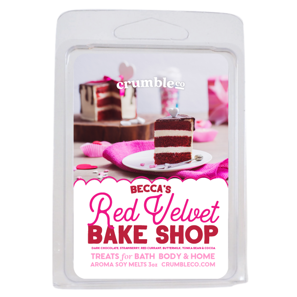 Becca's Red Velvet Bake Shop Wax Melts - Fragrant Wax Melts & Wax Cubes | Crumble Co. Scented Wax Bars & Candles