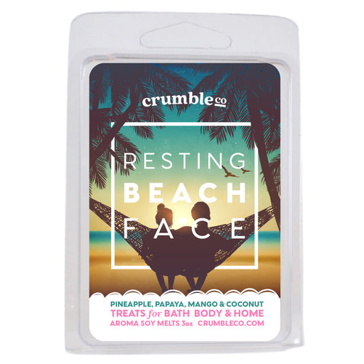 Resting Beach Face Wax Melts - Fragrant Wax Melts & Wax Cubes | Crumble Co. Scented Wax Bars & Candles