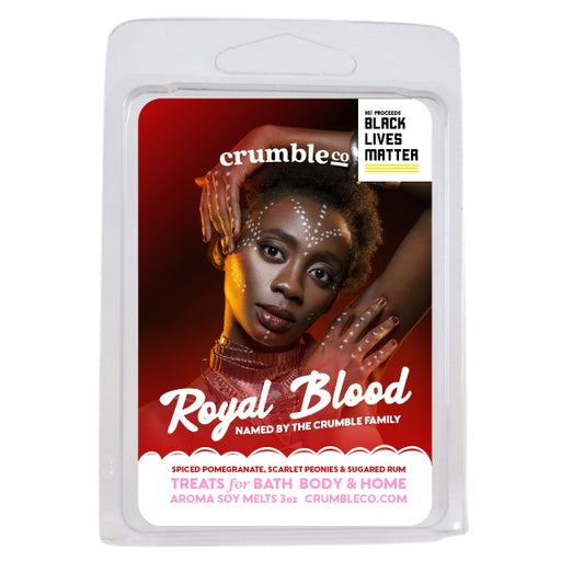 Royal Blood Wax Melts Charity Bar - Fragrant Wax Melts & Wax Cubes | Crumble Co. Scented Wax Bars & Candles