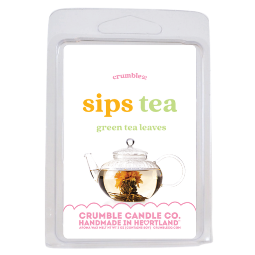 Sips Tea Wax Melts - Fragrant Wax Melts & Wax Cubes | Crumble Co. Scented Wax Bars & Candles