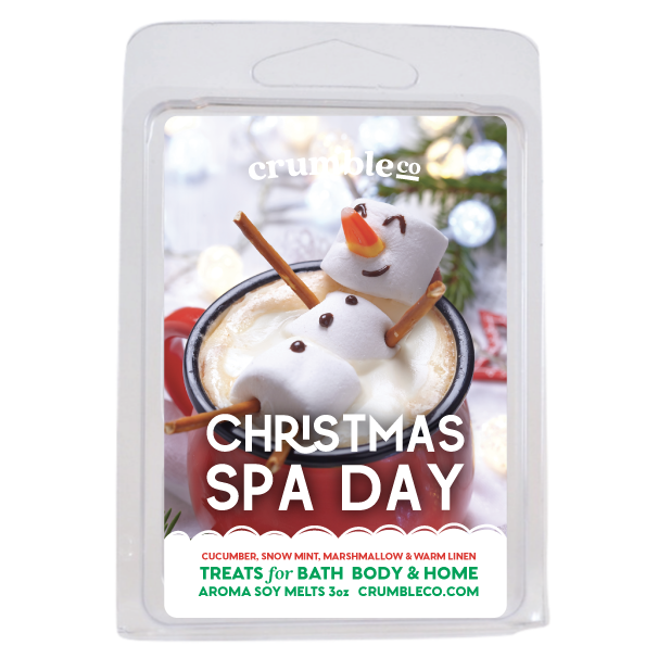 Christmas Spa Day Wax Melts - Fragrant Wax Melts & Wax Cubes | Crumble Co. Scented Wax Bars & Candles