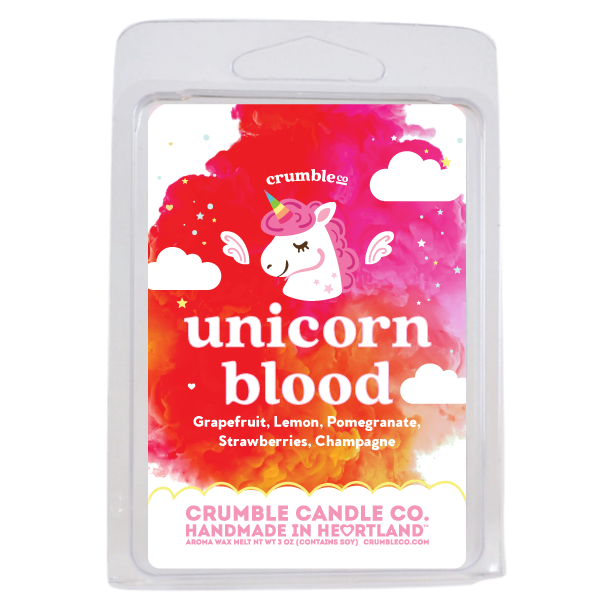 Unicorn Blood Wax Melts - Fragrant Wax Melts & Wax Cubes | Crumble Co. Scented Wax Bars & Candles