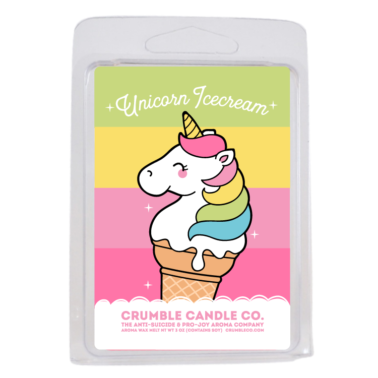 Unicorn Ice Cream Wax Melts - Fragrant Wax Melts & Wax Cubes | Crumble Co. Scented Wax Bars & Candles